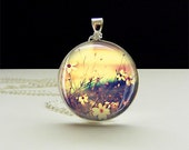 Tender Nature Photo Glass Tile Pendant, Tender Nature necklace, Photo Jewelry
