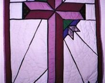 Stained Glass Cross Wall Hanging, Pattern
