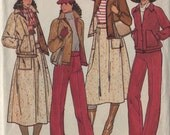 butterick 6242, vintage 70s women's separates pattern UNCUT, size 12, bust 34 FREE SHIPPING to canada and usa