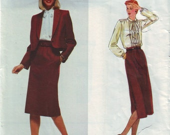 vogue 2300, american design don sayres vintage 80s suit pattern UNCUT, size 12, bust 34 FREE SHIPPING to canada and usa