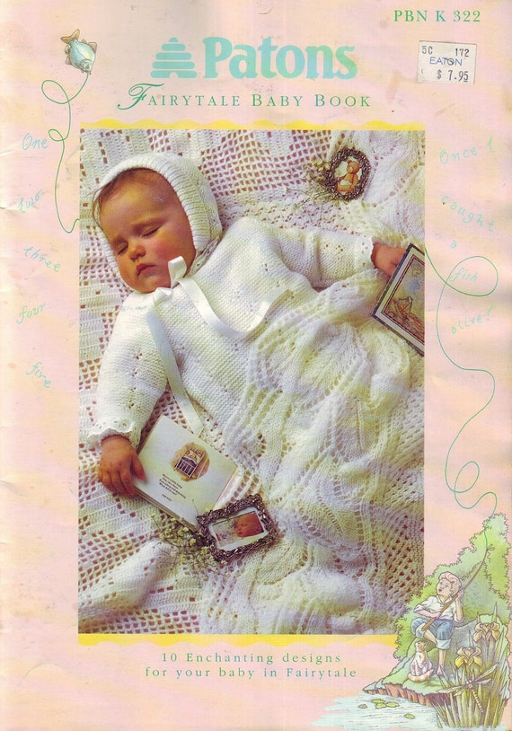 Patons Fairytale Baby Book Vintage 80s Knitting Pattern Book