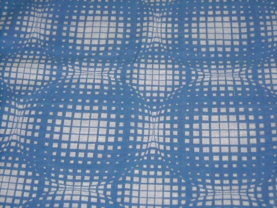 vintage 80s novelty cotton fabric, featuring great op-art design, 1 yard