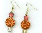 Aztec Sun Godess Earrings