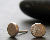 small textured recycled silver stud earrings Bliss READY TO SHIP