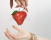 would you like a lovely red juicy apple my dear ...   5/50 ACEO