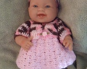 Crochet Pattern for 14 to 15 Inch Berenguer Baby Spring Set
