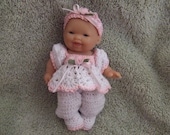 Crochet Pattern for 5 Inch Berenguer Baby Cuddler Up Romper