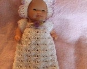 Crochet Pattern for 5 Inch Berenguer Baby Bunting or Gown Set
