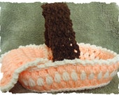 CROCHET PATTERN for Peach Basket and Matching Blanket