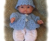 Crochet Pattern for 5 inch Berenguer Boy Sweater Set