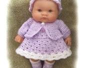 Crochet Pattern Spring Set for 8 inch Berenguer