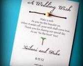 Royal Hawaiian - A Wedding Wish with a Palm Tree- Wish Bracelet Wedding Favor Custom Made for You
