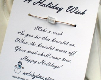 A Holiday Wish Bracelet Card or Holiday Party Favor