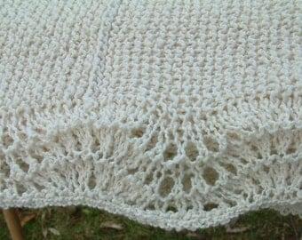 Cream Cotton Baby Blanket