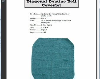 Diagonal Domino Doll Afghan Pattern