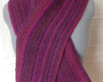 Striated Burgundy Scarf