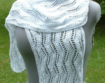 Extra-Long White Crocus Scarf