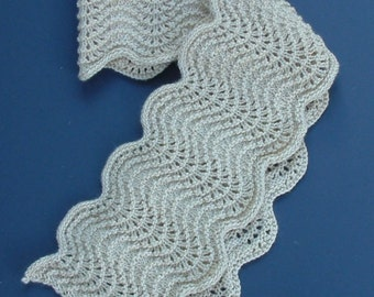 Warm Beige Scalloped Scarf