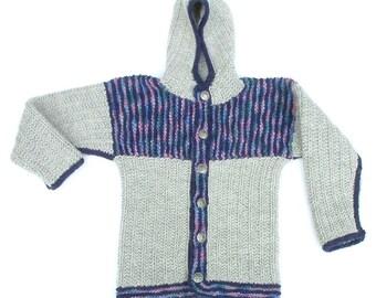 Extra-Long Toddler's Criss-Cross Wool Jacket