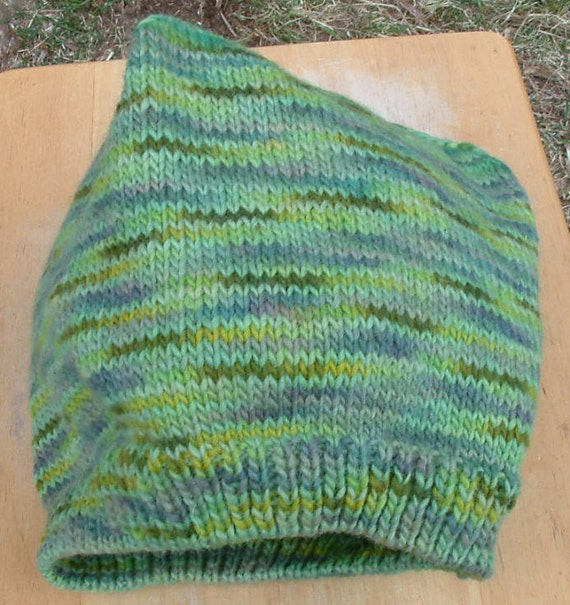 Variegated Green Heavyweight Beanie