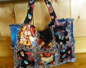 Rag Quilt Bag-Purse-Southwestern Designs-Free Shipping
