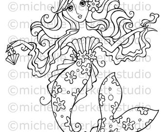 DIGITAL STAMP - Eva The Glam Mermaid