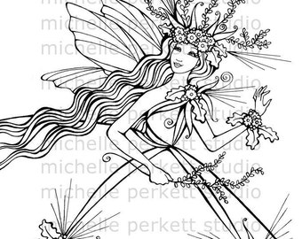 Digital Stamp Image Fairy Forest Woods Wings Inspirational Stamping Cardmaking Scrapbooking