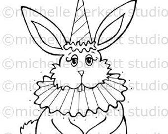 Digital stamp - Harvey the Easter Bunny scrapbooking cardmaking