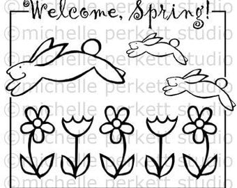 Digital stamp - Welcome Spring