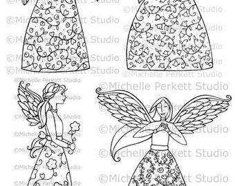 DIGITAL STAMP - Angel Collection (set of four)