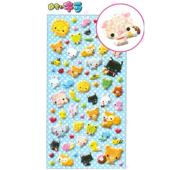 Kawaii Animals Sticker Sheet