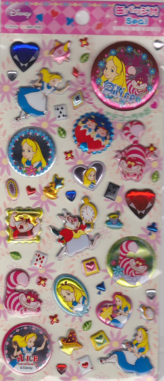 Kawaii Disney Alice in Wonderland Sticker Sheet B
