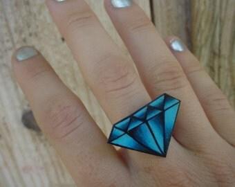 vintage tattoo diamond ring