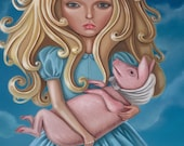 Pig and Pepper art print - Limited Edition Giclee - Alice