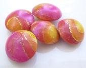 Hot Summer (5) Artisan Polymer Clay Beads