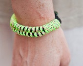 Neon Camping Cord Fishtail Bracelet- Medium