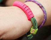 Neon Camping Cord Bracelet- Medium