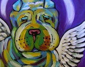 Shar Pei Dog Angel Print
