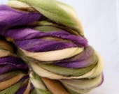Hand Spun Extreme Thick and Thin Super Bulky Art Yarn- Pluck