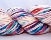 Hand Dyed Worsted Merino Single Yarn- Bubble Gum Ice Cream