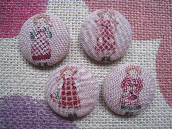 1 1/8 inch sew on buttons - Another Lovely Anne  - set of  4
