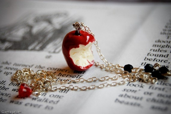 Snow White's apple necklace