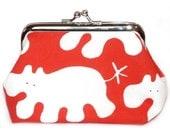 Red Hippo Mini Clutch