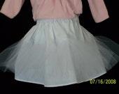 Petticoat slip with netting ruffles Size 12 mos to 2T