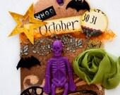 Halloween Skeleton Tag