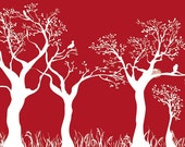 Red and White Forest