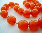 Burnt Orange Beads, Polyester,11mm