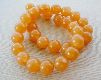 Peach Aventurine Beads, 6mm Round Gemstone Bead, 8 inch half strand jewelry supplies