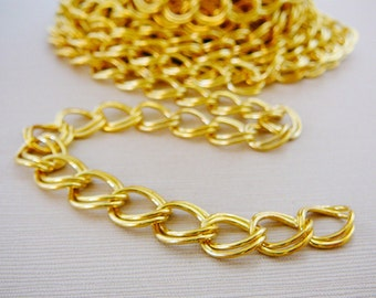 Gold Tone Chain, 3 feet, 13mm x 10mm Oval Parallel jewelry supplies large link