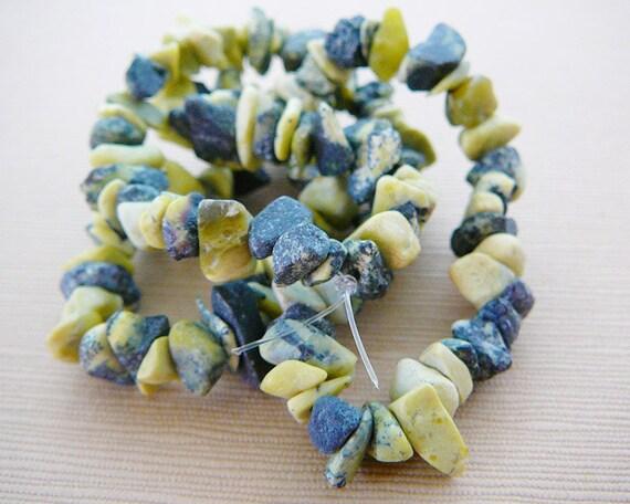 Gemstone Beads, Chips, Yellow Turquoise, Matte